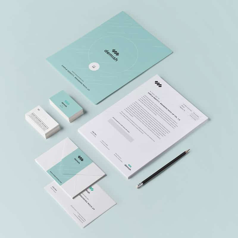 Photo of stationery collection designed and printed by Sydney's Fastest Printer