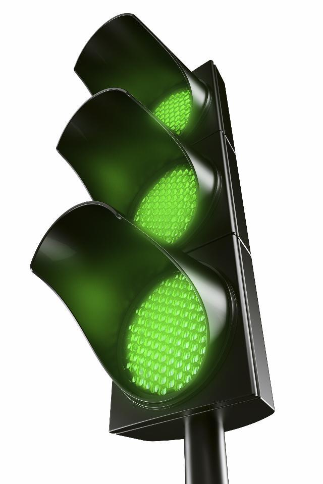 Traffic Light with 3 Green Light Globes for Sydney's Fastest Printer