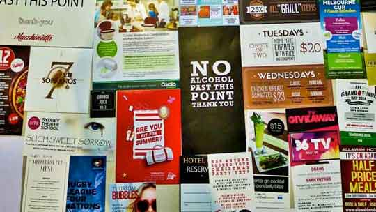 Photo of flyers and pamphlets printed by Sydney's Fastest Printer
