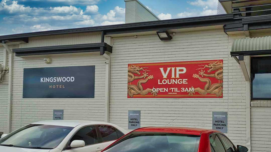 Hotel pub signage printed and installed by Sydney's Fastest Printer